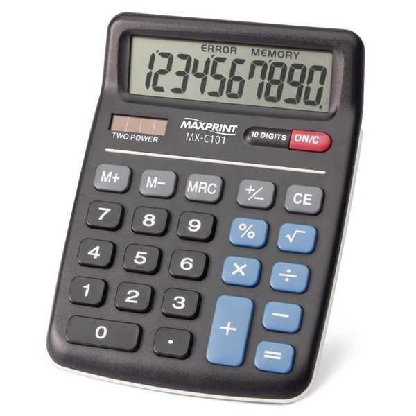 Calculadora de Mesa 10 Dígitos Eletrônica MX-C101 1 UN Maxprint