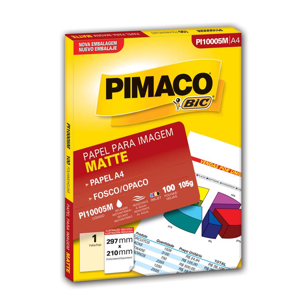 Papel Fotográfico Matte A4 PI10005M PT 100 FL Pimaco