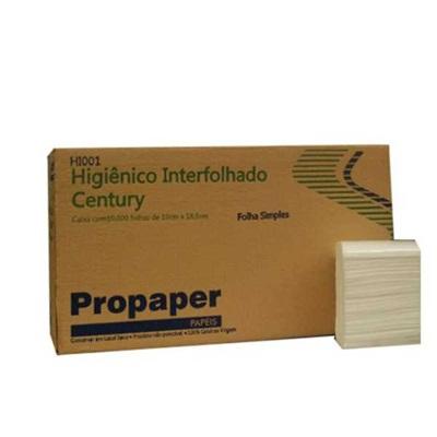 Papel Higiênico Interfolhado Folha Simples CX 10.000 FL Propaper