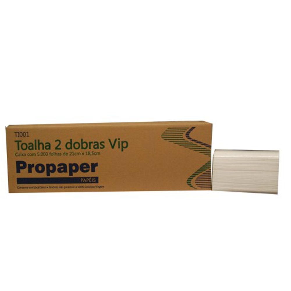 Papel Toalha Interfolha 2 Dobras 21cmx18,5cm CX 5000 FL Propaper