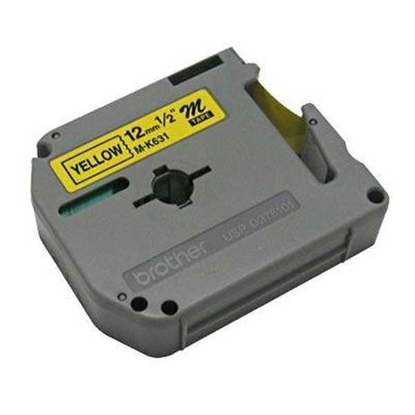 Fita para Rotulador 12mm x 8m Preto e Amarelo 1 UN Brother
