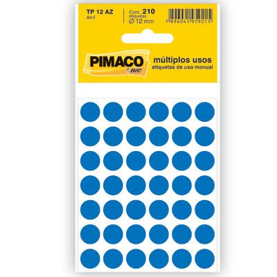 Etiqueta Adesiva Redonda 12mm Azul PT 210 UN Pimaco