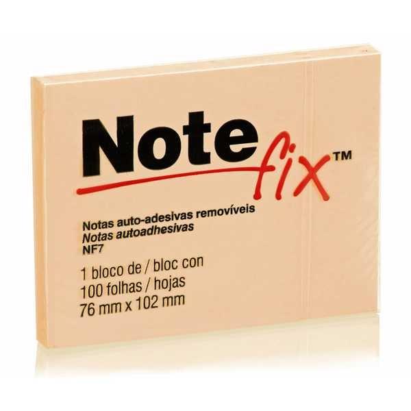 Bloco Adesivo 100 Folhas 76x102mm Laranja 1 UN Notefix