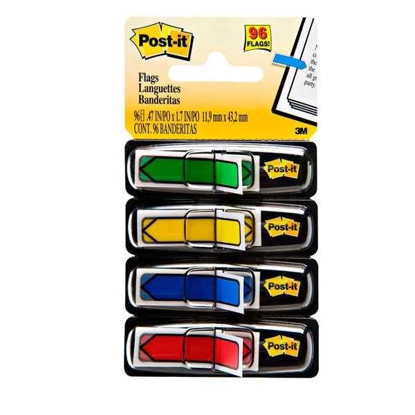Marcador de Página Adesivo Flags Setas - 96 folhas Post-it