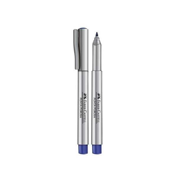 Caneta Hidrográfica Ponta Porosa Azul 1.0mm 1 UN Faber Castell