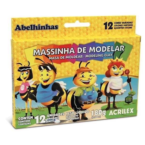 Massa de Modelar Abelinhas 180g 12 UN Acrilex