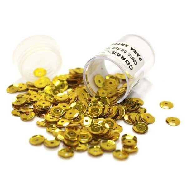 Lantejoula Ouro 6mm 1 UN MC