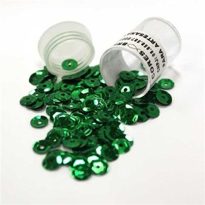 Lantejoula Verde 6mm 1 UN MC