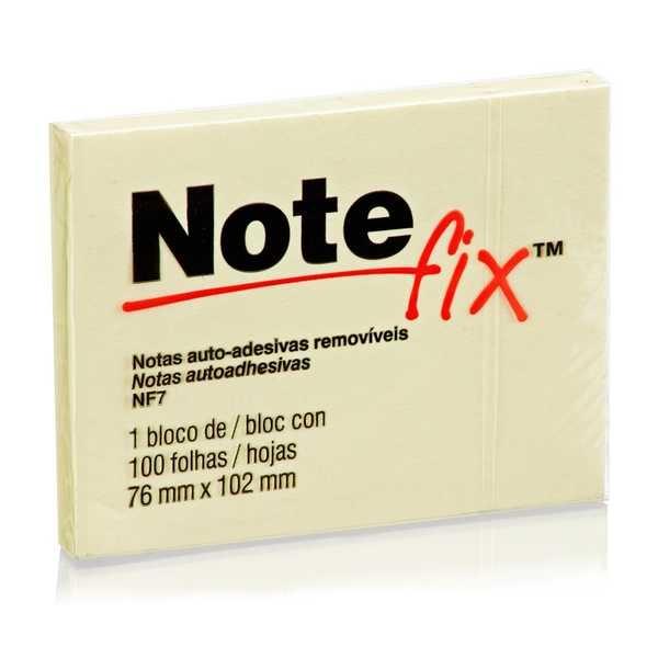 Bloco Adesivo 100 Folhas 76x102mm Amarelo 1 UN Notefix