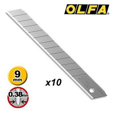 Lâmina Estreita para Estilete 9mm 10 UN Olfa