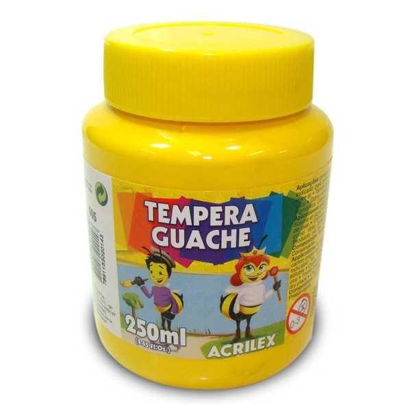 Tinta Guache Amarela 250ml Acrilex