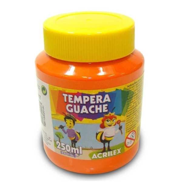 Tinta Guache Laranja 250ml Acrilex
