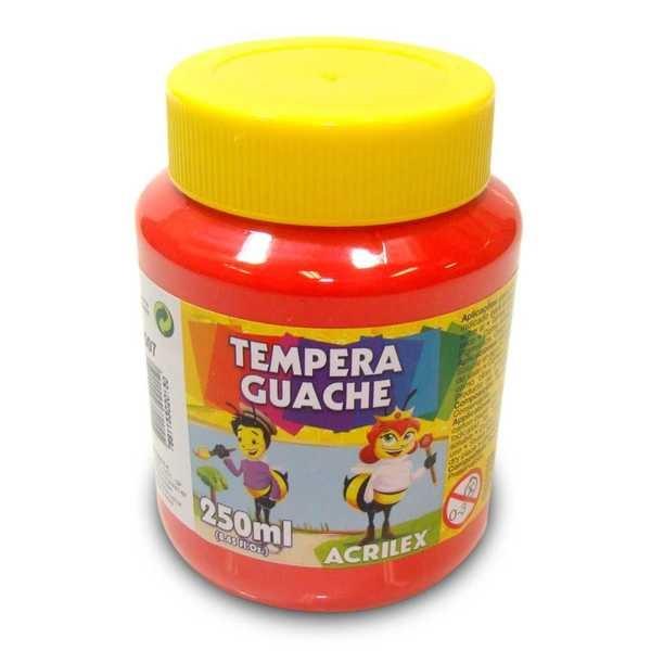 Tinta Guache Vermelho 250ml Acrilex