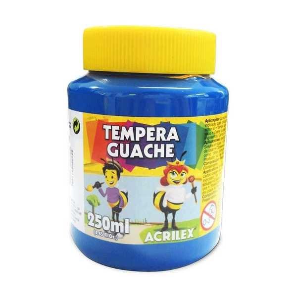 Tinta Guache Azul 250ml Acrilex