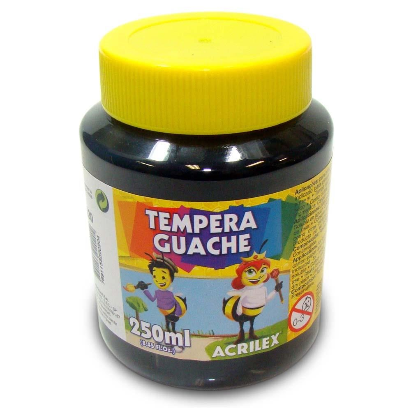 Tinta Guache Preta 250ml Acrilex