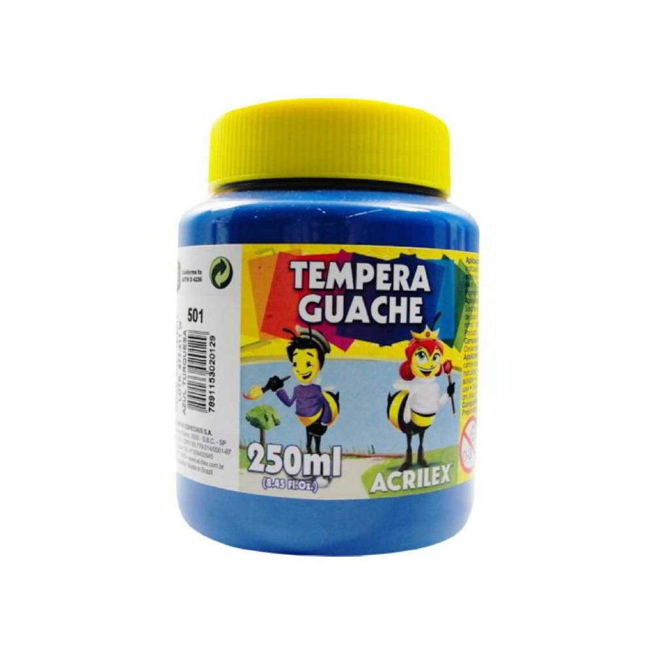 Tinta Guache Azul Turquesa 250ml Acrilex