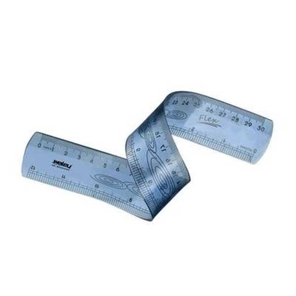 Régua Flexível Cristal 30cm 11 1 UN Waleu