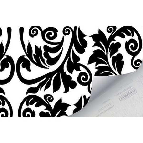 Plástico Autoadesivo Estampa Arabesco 45cm x 2m 1 UN Plastcover