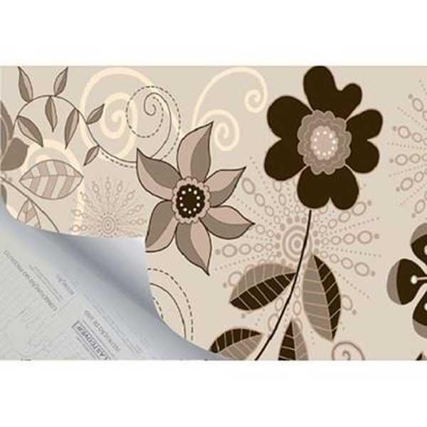 Plástico Autoadesivo Estampa Flower 6 45cm x 2m 1 UN Plastcover