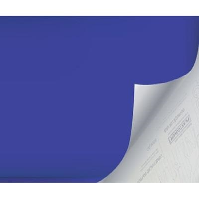 Plástico Autoadesivo Estampa Azul Opaco 45cm x 2m 1 UN Plastcover