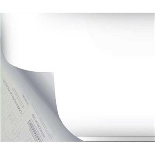 Plástico Autoadesivo Estampa Branco Opaco 45cm x 10m 1 UN Plastcover