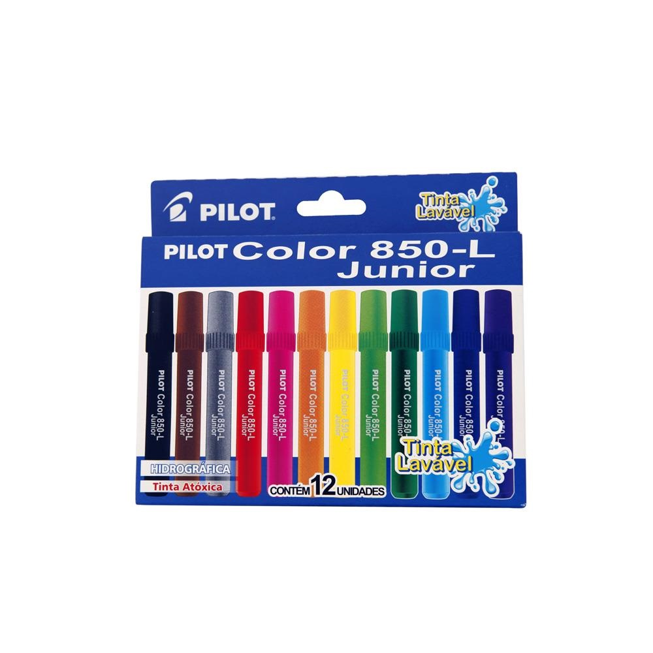 Caneta Hidrográfica Colorir Color Junior 12 Cores Pilot