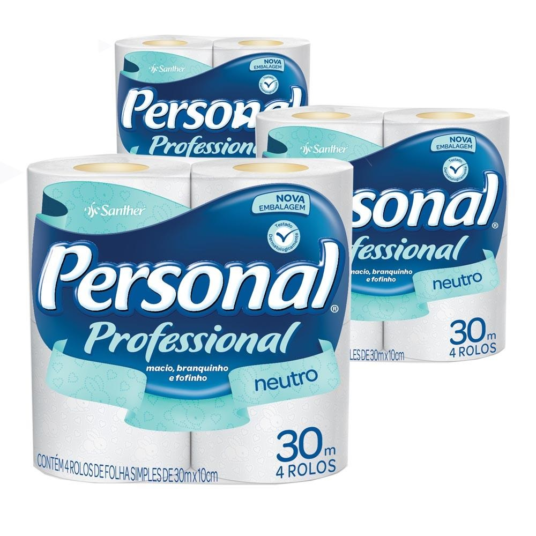 Papel Higiênico Folha Simples 30m Branco PT 60 RL Personal