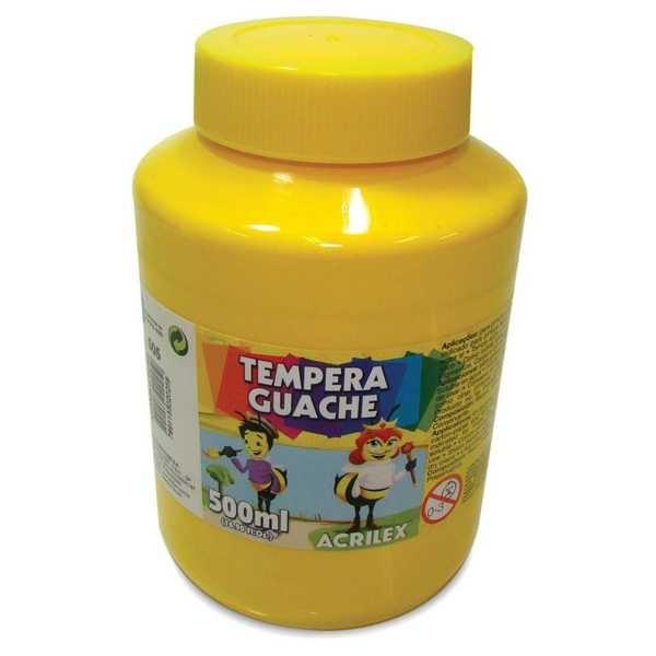 Tinta Guache Amarela 500ml Acrilex