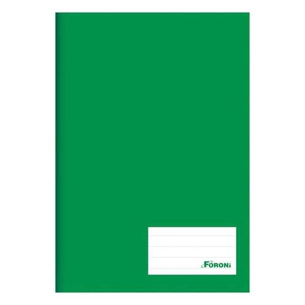Caderno Brochurão Capa Dura Universitário 96 FL Verde 1 UN Foroni