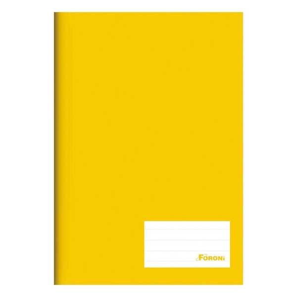 Caderno Brochura Capa Dura 1/4 96 FL Amarelo 1 UN Foroni