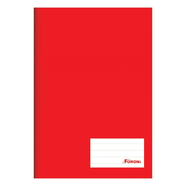 Caderno Brochura Capa Dura 1/4 96 FL Vermelho 1 UN Foroni