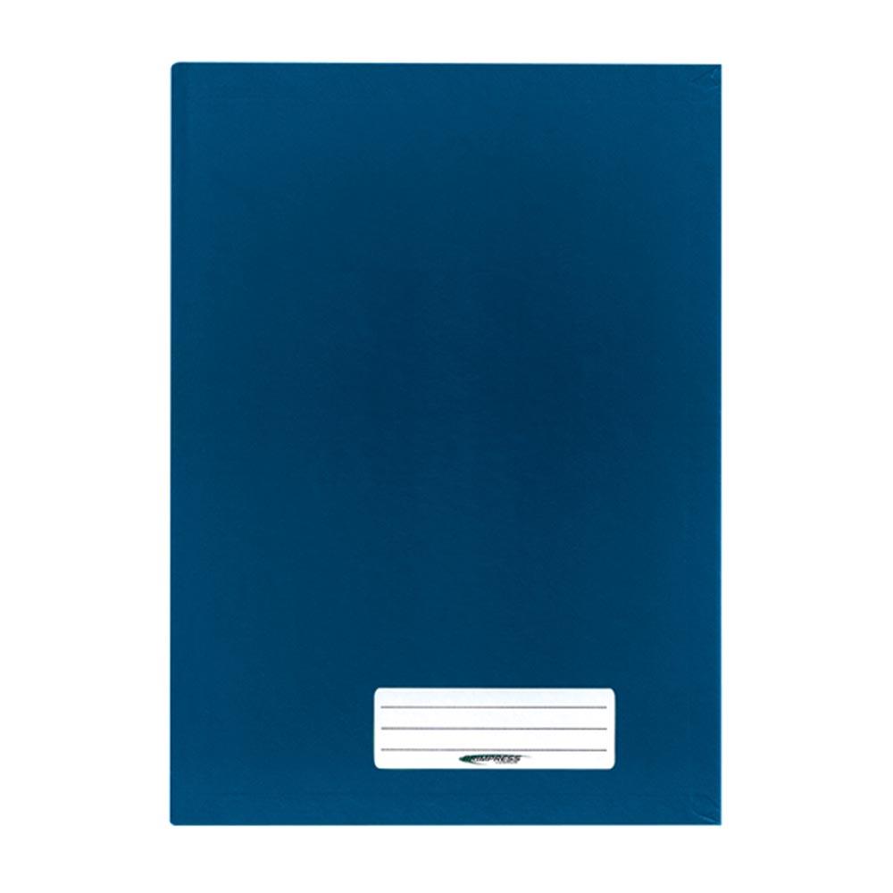 Caderno Brochura Capa Dura 1/4 48 FL Azul 1 UN Brimpress