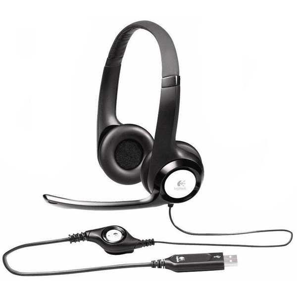 Headset com Microfone USB Preto H390 1 UN Logitech