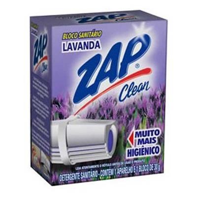 Bloco Sanitário 30g Lavanda com Aparelho 1 UN Zap Clean