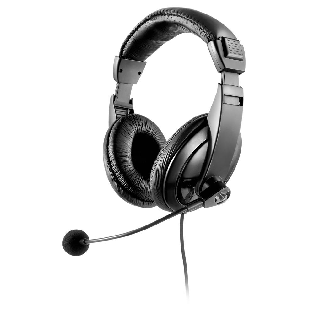 Headset Profissional Giant com Microfone P2 Preto PH049 1 UN Multilaser