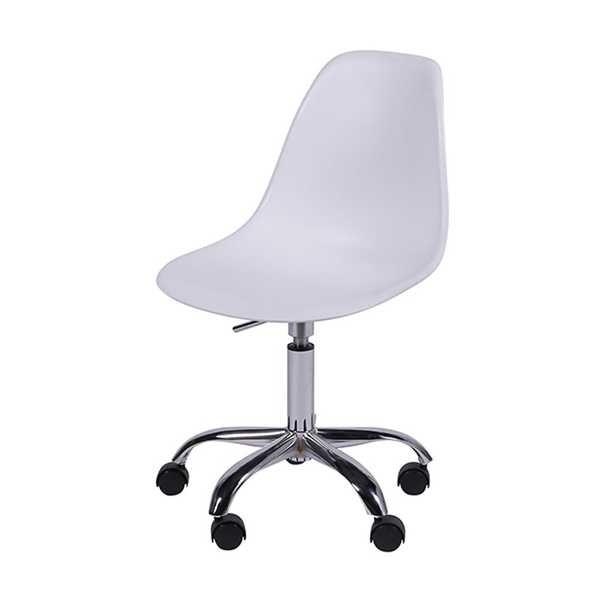 Cadeira Giratória Eames em Polipropileno Base Cromada Branca OR Design