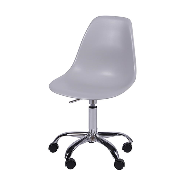 Cadeira Giratória Eames em Polipropileno Base Cromada Cinza OR Design