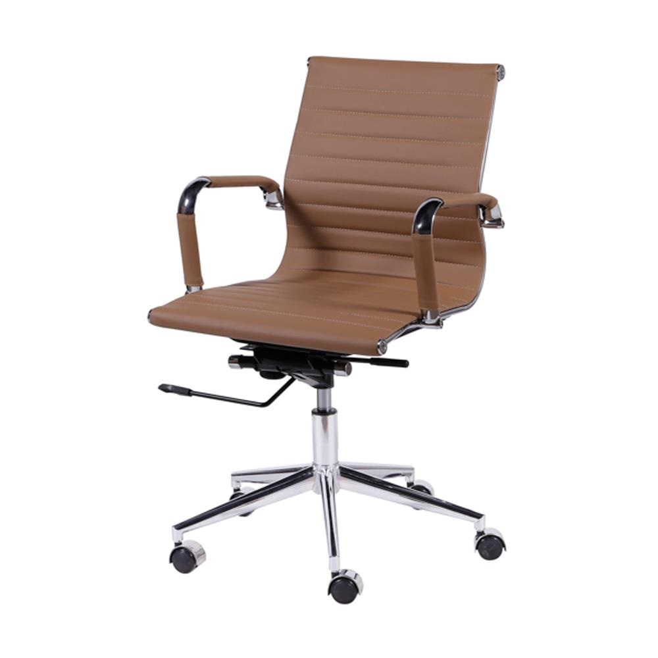 Cadeira Giratória Charles Eames em PU Relax Caramelo OR Design