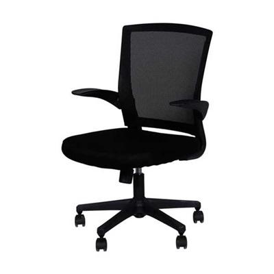 Cadeira Giratória Charles Eames em Nylon e Tela Mesh Preta OR Design