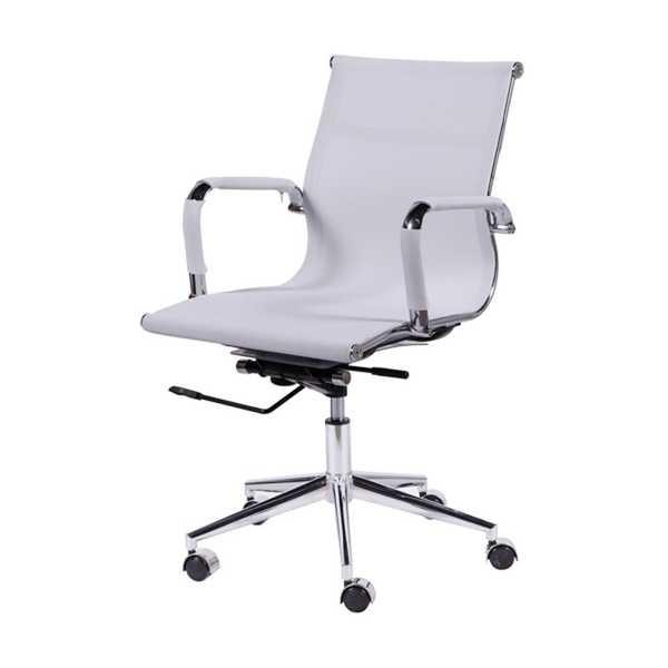 Cadeira Giratória Charles Eames em Tela Mesh Baixa Branca OR Design