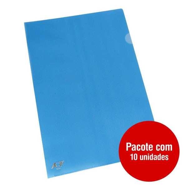 Pasta em L Ofício Azul 230x335mm PT 10 UN ACP