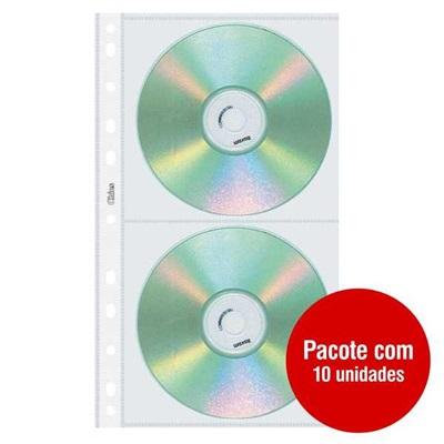 Refil Capa para CD e DVD Duplo 1698-5 PT 10 UN Chies