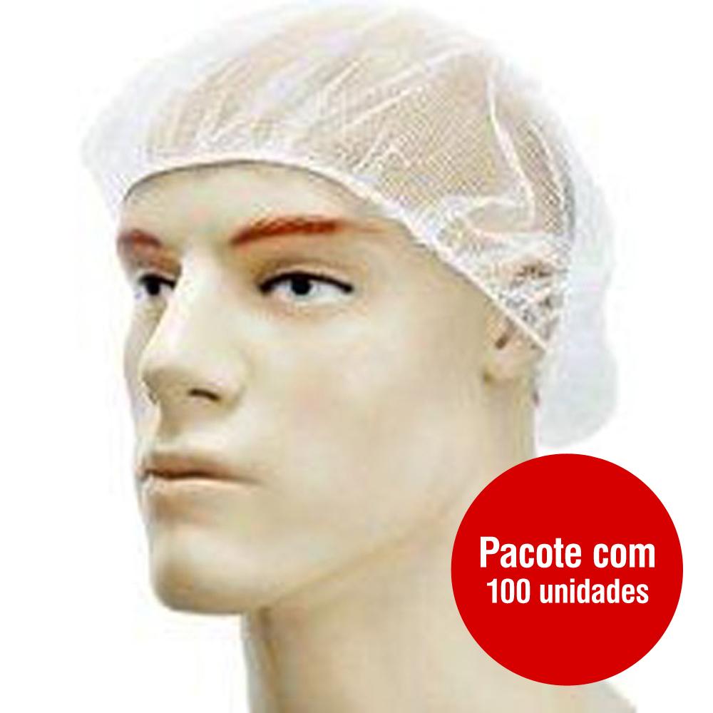 Touca Capilar Protetora Descartável Branca PT 100 UN Talge