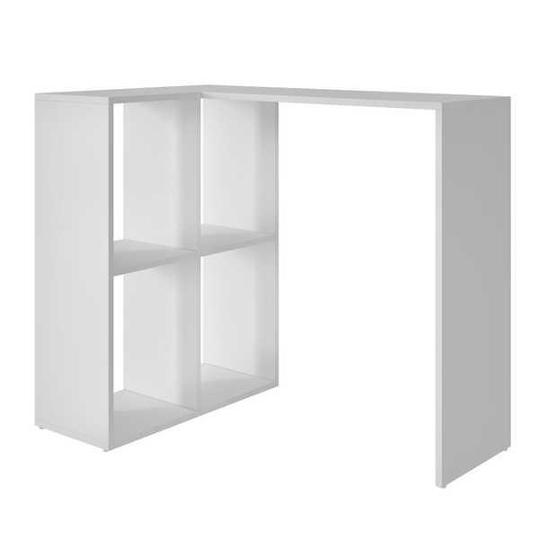 Mesa Escrivaninha com 4 Nichos Branco 77x58,8x90cm 1 UN BRV
