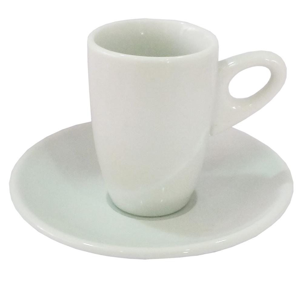 Xícara de Café com Pires Genova 80ml com 12 Peças 1 UN Sam Master