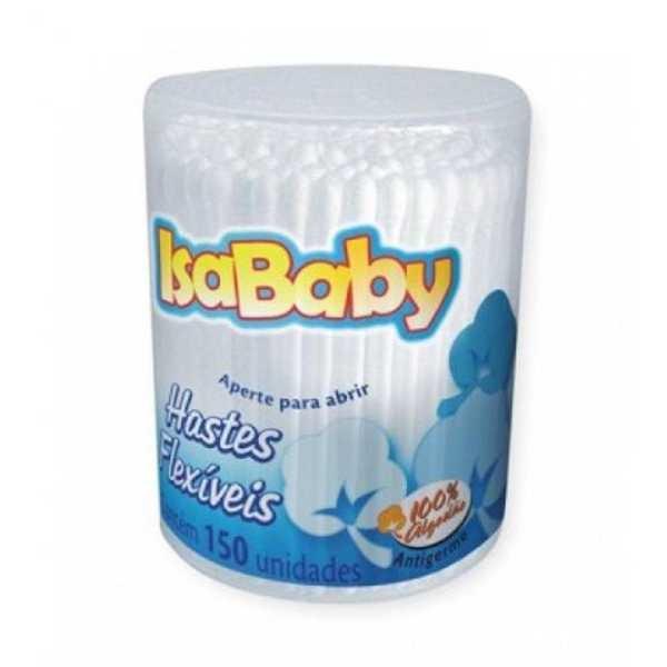 Hastes Flexíveis de Algodão Pote 150 UN Isababy