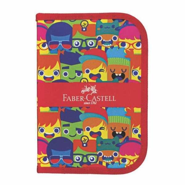 Estojo Completo Carinhas com 18 Itens Faber Castell