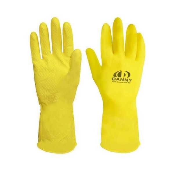 Luva de Proteção Confort Látex Multiuso M Amarela C.A 15532 1 Par Danny