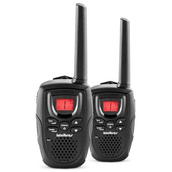 Rádio Comunicador RC 5002 Até 1 Km Preto 2 UN Intelbras