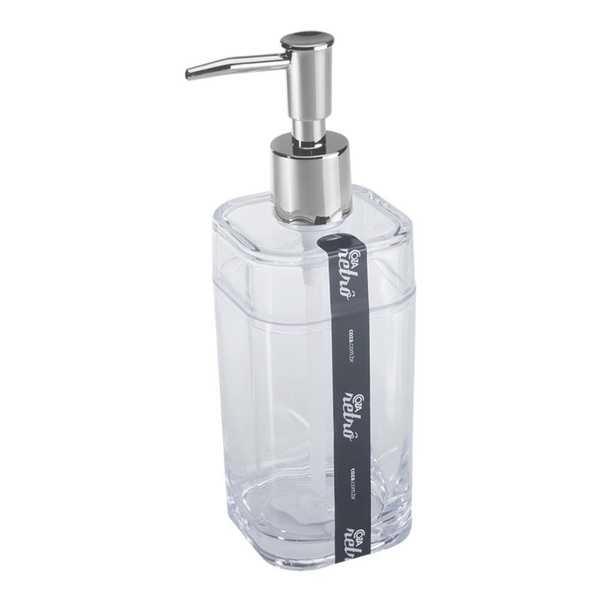 Porta Sabonete Líquido Splash 290ml Cristal 1 UN Coza